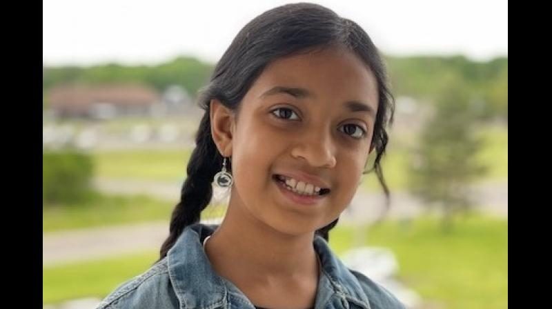 """Natasha Peri, 11-year old Indian American girl, has bagged a name in the world's """"brightest"""" students list."""