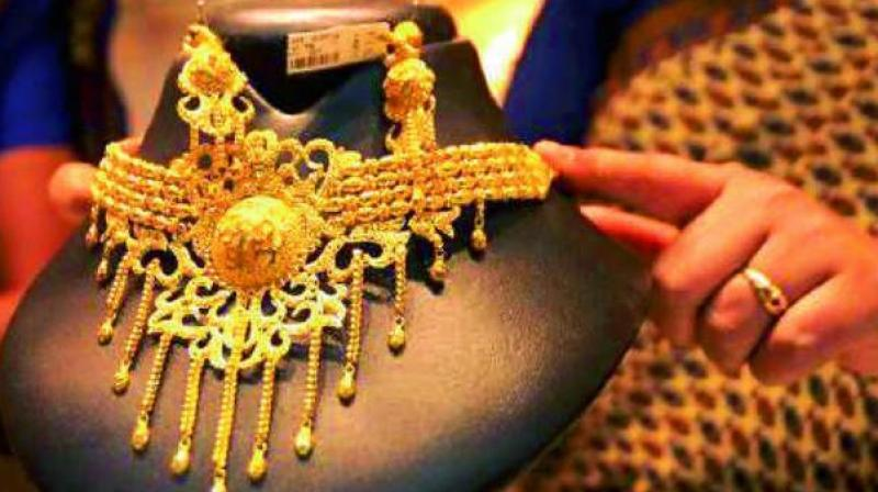 Analysts said building up of positions by speculators led to rise in gold prices at futures trade here but absence of cues from global markets.