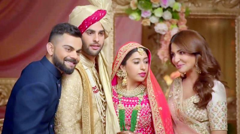 In the ad, Virushka leaves no stone unturned to warn their soon to be married friends about the realities of marriage.