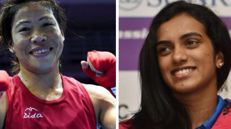 Sindhu outclassed her opponent Nazomi Okuhara by 21-7, 21-7 in the BWF World Championships last month to bag a gold medal. (Photo: AFP/PTI)