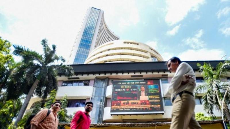 BSE tower. (PTI)