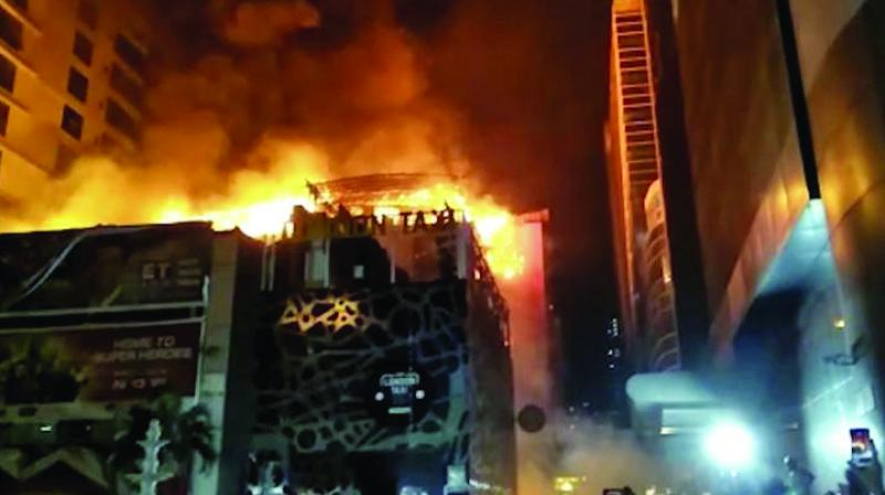 The building housed 1 Above and Mojo Bristos, two roof top restaurants which were gutted in fire on December 29. A total of 14 people were killed in the blaze.