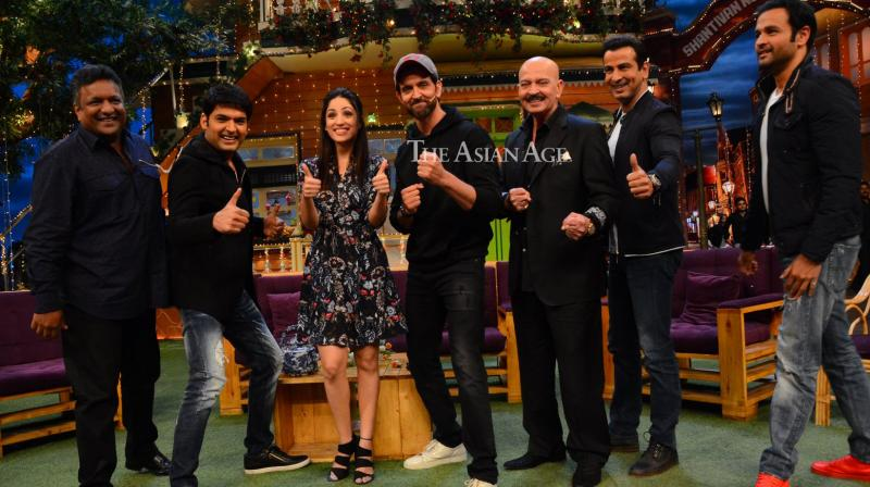 The team of 'Kaabil', who have expressed their delight at the collections of the film, were seen having a gala time on Kapil Sharma's comedy show on Sunday. (Photo: Viral Bhayani)