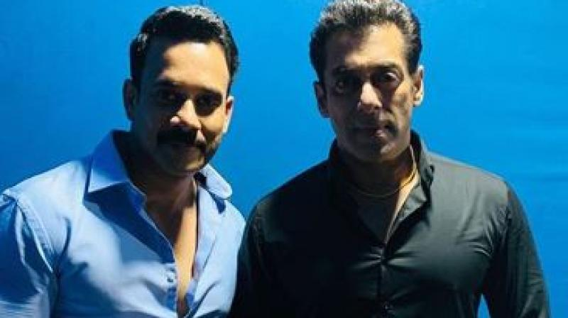 Bharath and Salman Khan. (Image Source: Instagram/ bharath_niwas)