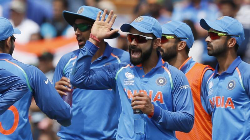 After a poor match against Sri Lanka, Ravindra Jadeja (1/39 in 10 overs) was at his accurate best stifling the runs in those middle overs in tandem with comeback man Ravichandran Ashwin (1/43 in 9 overs).(Photo: AP)