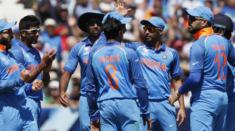 India join England and Bangladesh in the knockout stages of the tournament. The winner of Monday's final group match between Sri Lanka and Pakistan will complete the last-four line-up.(Photo: AP)