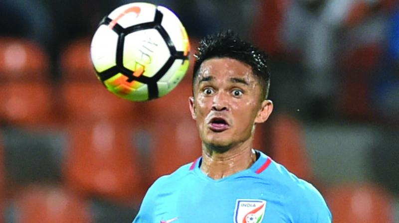 Various footballers like Sunil Chhetri, Sandesh Jhingan, Gurpreet Singh Sandhu, Dalima Chhibber and Aditi Chauhan can be seen sending good wishes to the Indian cricket team. (Photo: File)