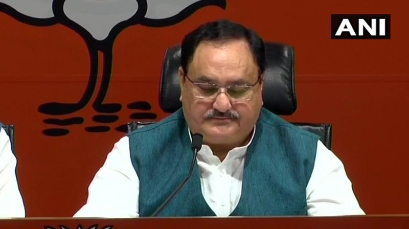 The BJP has finalised names of all 17 party candidates from Bihar and sent the list to the state unit which will announce it jointly with allies, Nadda said.  (Image: ANI)