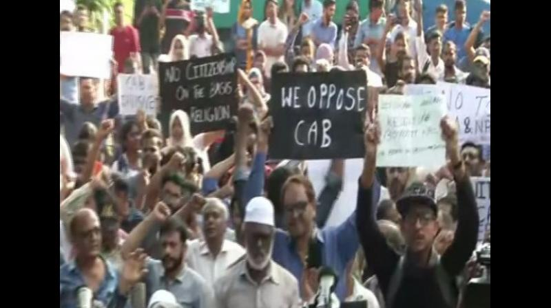 Hundreds of people, including various political, non-political and student organisations had protested against the Citizenship (Amendment) Act, 2019, demanding the government to withdraw the new law alleging that it discriminates on the basis of religion. (Photo: ANI)