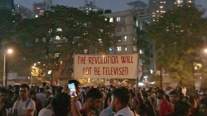 Hundreds of people took to the streets on December 19 in Mumbai and represented their dissent on the new citizenship law and NRC. (Photo: File)