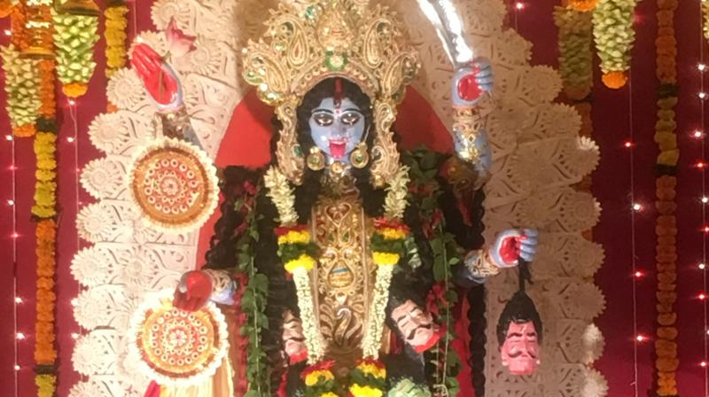 Goddess Kali is worshipped for the purpose of destroying all evil that is in the outside world and the world within us.