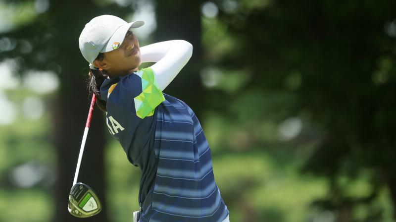 The 23-year-old Bengalurean ended two strokes off the pace with a total of 15-under 269, which was just one stroke below the medal bracket. (Photo: Twitter/ @LPGA)