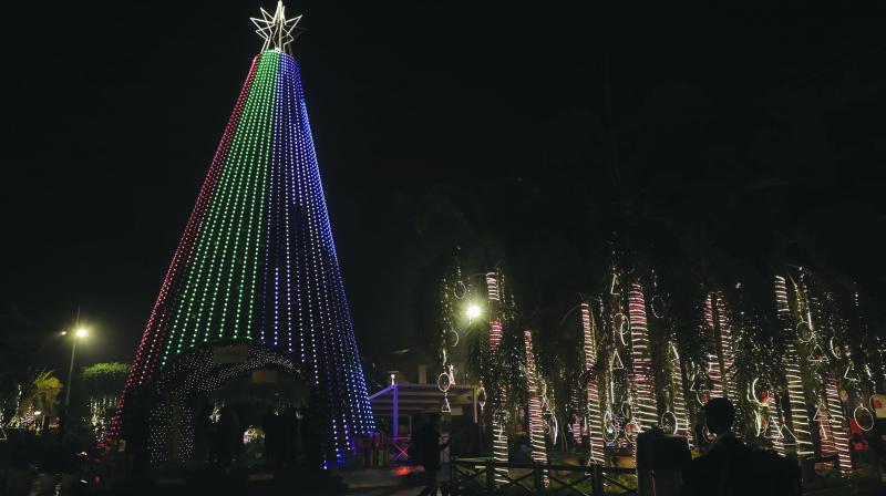 Christmas decoration at Select City Walk in South Delhi
