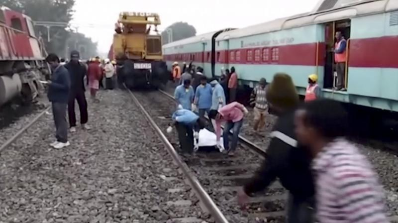 Seven coaches were thrown off the tracks around midnight Saturday after a Hirakand Express train derailed. (Photo: PTI)
