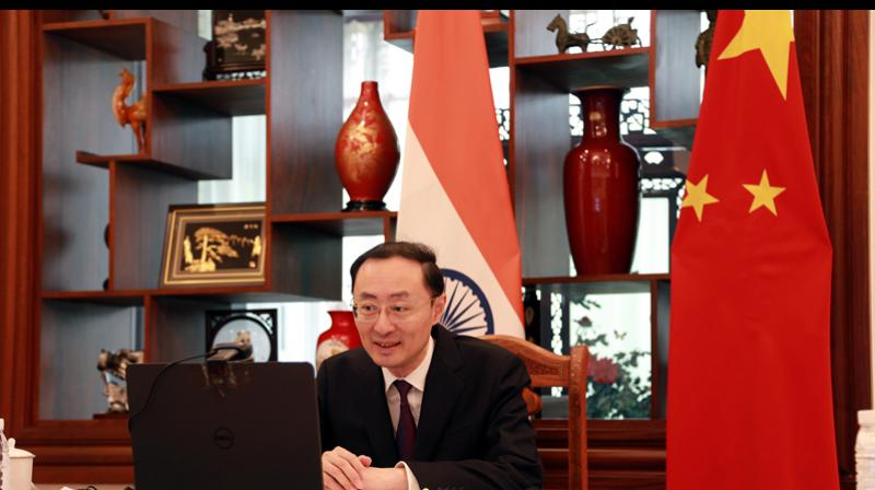 China's ambassador to India Sun Weidong said disengagement of troops on the Line of Actual Control in Ladakh has been completed. (File photo: Twitter/Sun Weidong)