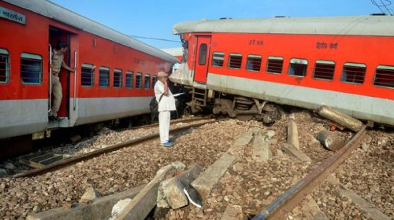 Kaifiyat Express travels between Azamgarh in Uttar Pradesh and Delhi and the collision has impacted the train operations on the Delhi-Howrah route. (Photo: PTI)