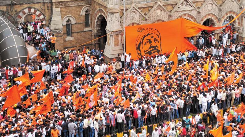 File picture of protest by Maratha Kranti Morcha.
