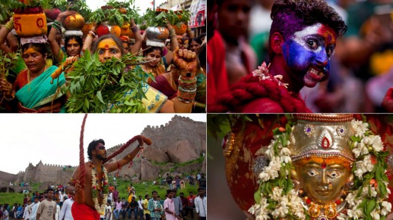 At Bonalu Folk Festival Hindus Offer Prayers To Goddess Kali