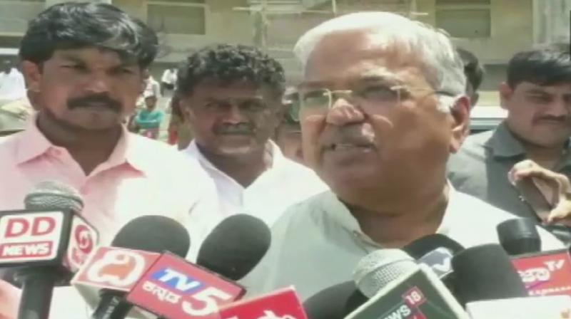 """Speaking to reporters in Kannada, Karjol said, """"Every year, around 10,000 accidents are reported in the state. The media blames it on bad roads. But, I believe it is due to good roads.'(Photo: ANI)"""