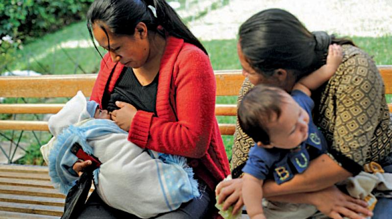 A file photo of a woman breastfeeding. (Photo: AFP)