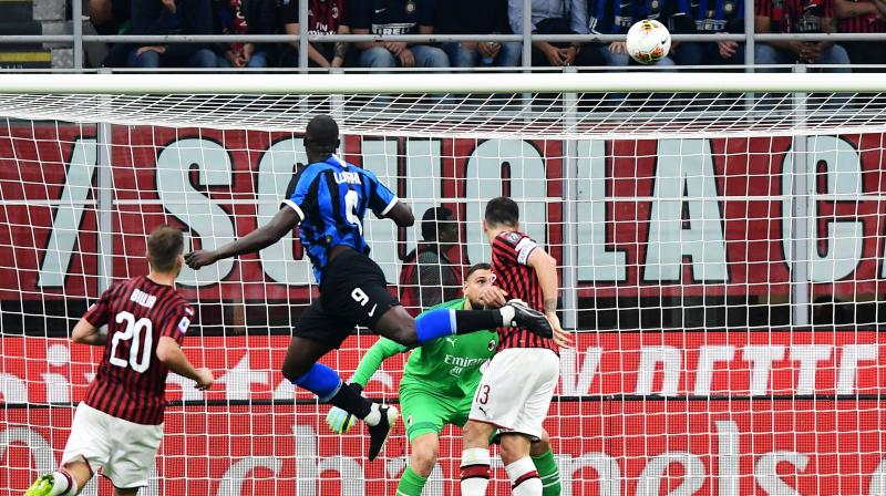 Belgium striker Romelu Lukaku and Marcelo Brozovic's second half strikes gave Inter their fourth win in as many games, putting them two points ahead of Juventus after the champions' came back from a goal down beat Verona 2-1 thanks to Aaron Ramsey's first Serie A goal and a Cristiano Ronaldo penalty. (Photo:AFP)