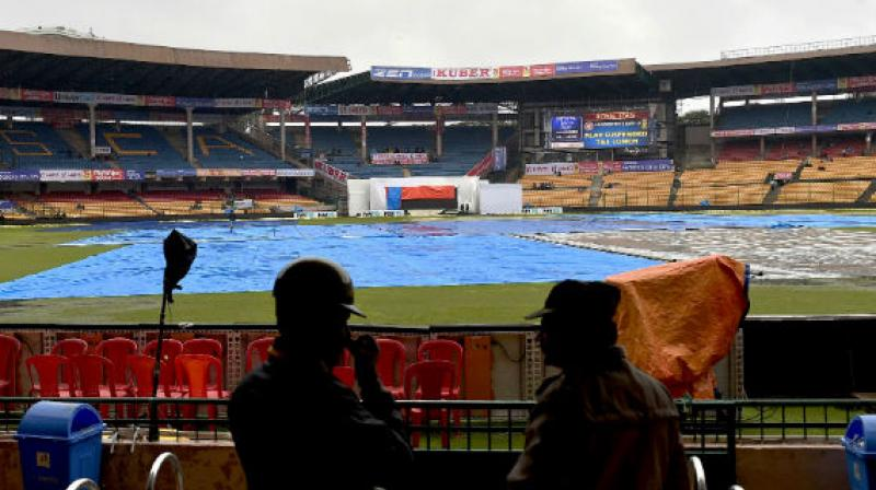 India will be looking to wrap the series 2-0 against South Africa, but the rains aim to put a halt to India's plan by interfering in the match. With the match set to begin today, the weather forecast for the third and final T20I match doesn't look so great. (Photo:AFP)