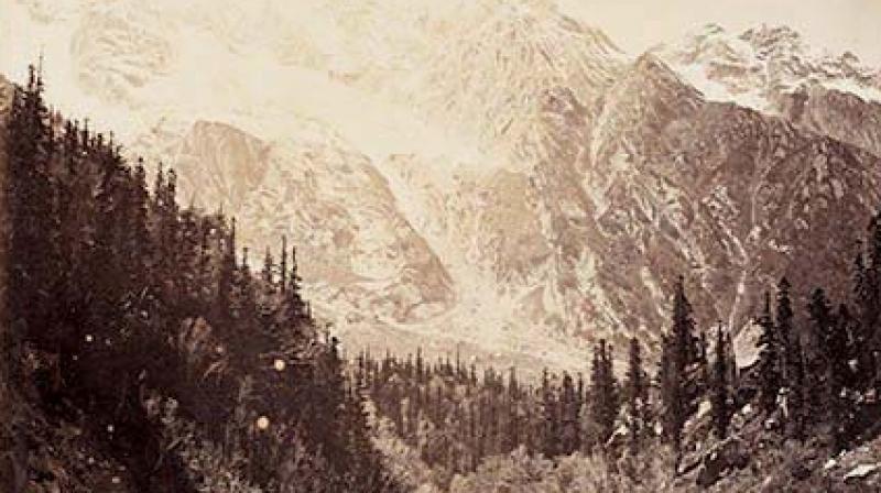 A photograph of the Himalayas.