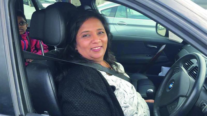 Indian-born, U.K. resident Bharulata Patel Kamble received the Nari Shakti Puraskar recently for being the first woman driver in the world to complete a transcontinental car journey alone — traversing 32,000 km in 32 countries.