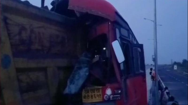 The accident spot in Yavatmal. (ANI)