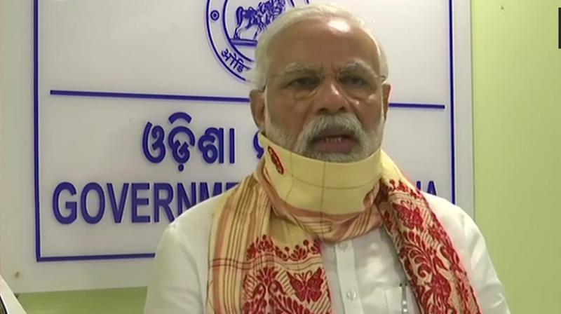Modi in Odisha. (ANI)