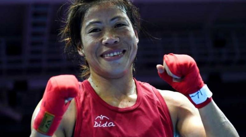 Chasing her first world medal in the 51kg division, Mary Kom picked up pace in the second round and was especially sharp with her counter-attacks. (Photo: AP)