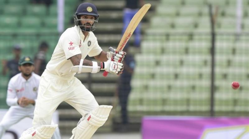 Shikhar Dhawan last played a Test for India in 2016 against New Zealand in a home series.(Photo: AFP)