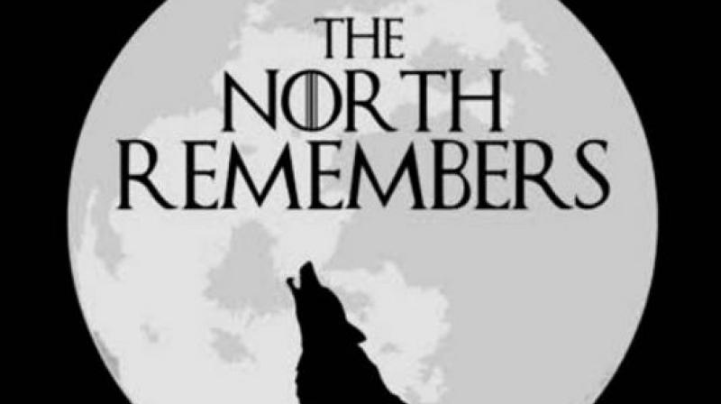 Irani shared silhouette picture of a dire wolf on backdrop of a moon with a quote from the series 'The North Remembers'. (Photo: File)