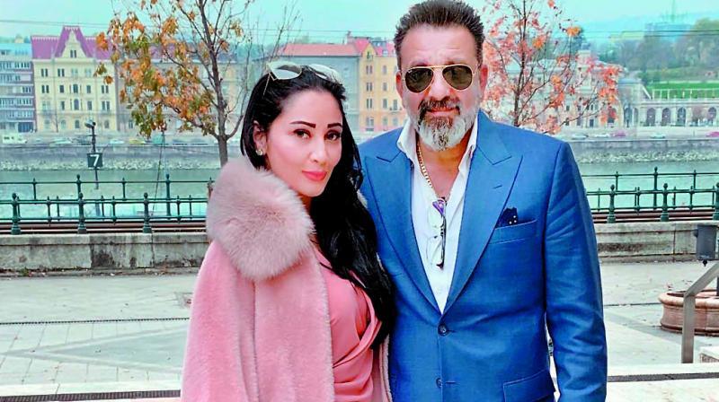 Sanjay Dutt with Manyata Dutt