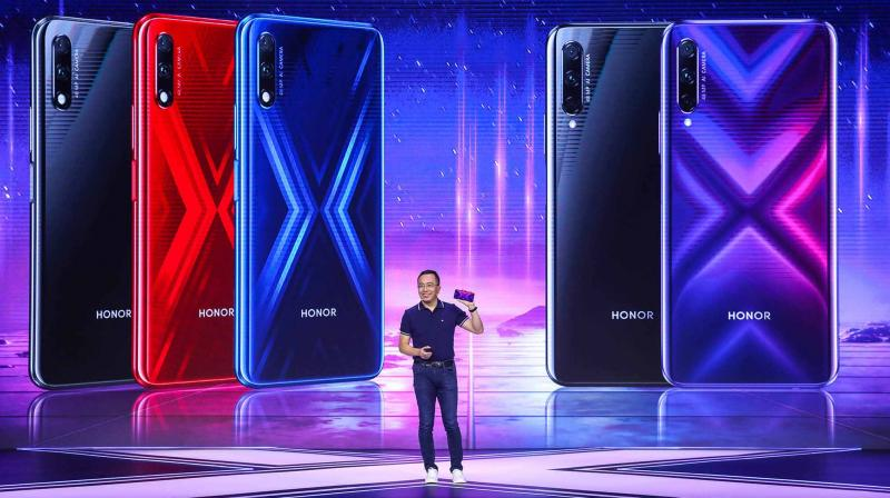 This file photo is of the launch of the Honor 9X Pro and Honor 9X last month. The company claims to have attracted 1 million app developers for Huawei AppGallery.