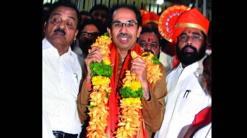 Maharashtra CM Uddhav Thackeray after the Shiv Sena-NCP-Congress alliance won the floor test in the Maharashtra Assembly in Mumbai on Saturday. (Photo: PTI)