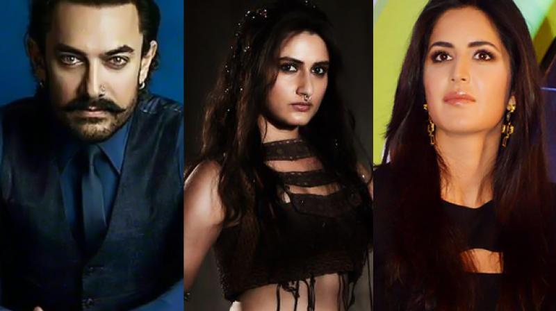 (L-R) Aamir Khan, Fatima Sana Shaikh during a photoshoot, Katrina Kaif at an event.