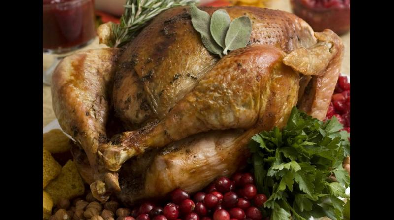They say that could spread the germs lurking on your turkey in the kitchen sink or nearby food. (Photo: AP)