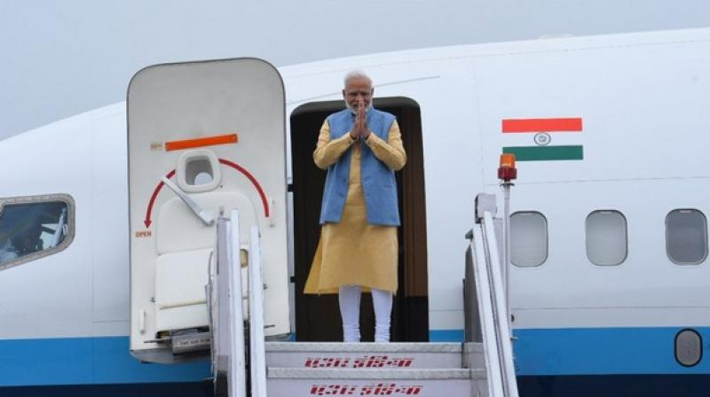 After wrapping up his bilateral engagements, Modi will depart for New Delhi from Paro on Sunday. (Photo: ANI)