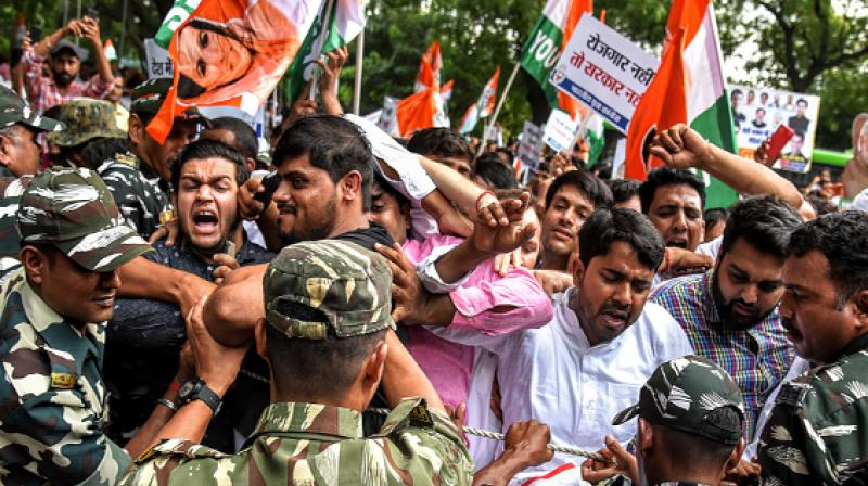 Why Youth Congress protested near FMs house over economic crisis?