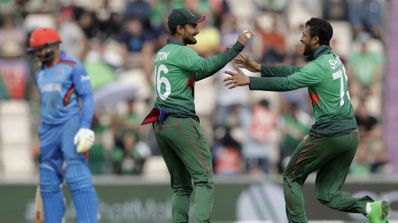 Shakib Al Hasan has been the architect of each of Bangladesh's three victories at the World Cup but the all-rounder denies they are a one-man army. (Photo:AP)
