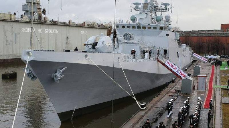 INS Tarkash, commanded by Captain Sathish Vasudev, is the second ship of the state-of-the-art Teg Class Stealth Frigates (P1135.6), built by Yantar Shipyard at Kaliningrad, Russia.