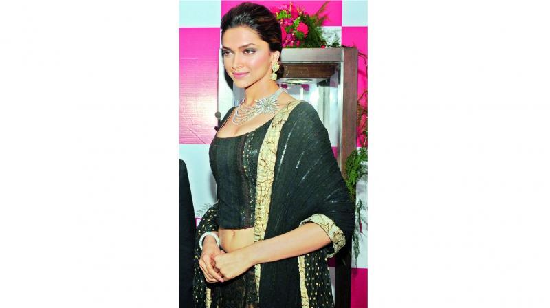 Actress Deepika Padukone sporting Nirav Modi's jewellery