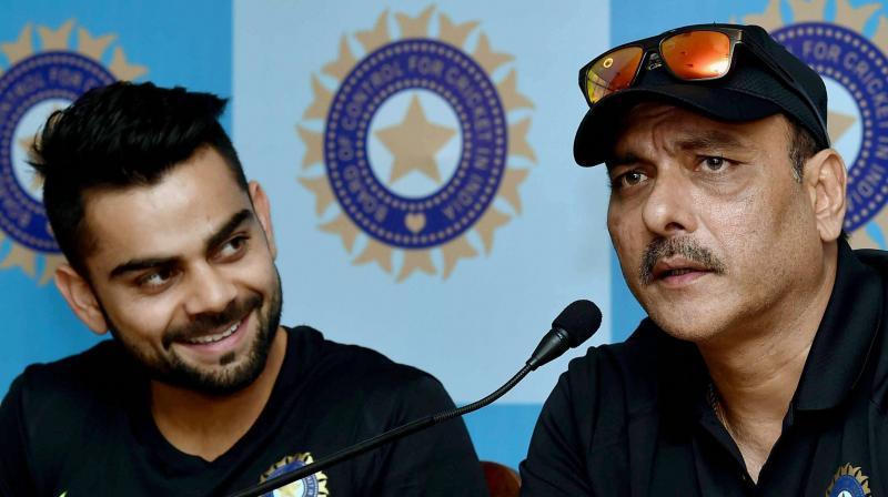 Virat Kohli and Ravi Shastri (Photo: AP)