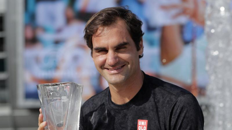 The title was Federer's second of the year, coming after his historic 100th win in Doha in February. (Photo: AP)
