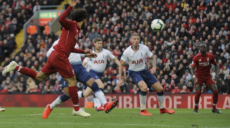 Spurs keeper Hugo Lloris parried out a back post header from Mohamed Salah but the ball struck the unfortunate Belgian central defender and rolled over the line in the 90th minute. (Photo: AP)