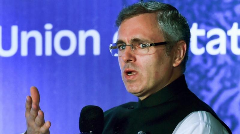 National Conference Vice-President Omar Abdullah addresses during 'Think Federal Conclave' panel discussions on 'Federalism and Autonomy Towards a peaceful Future of J-K' in Kolkata on Saturday. (Photo: PTI)