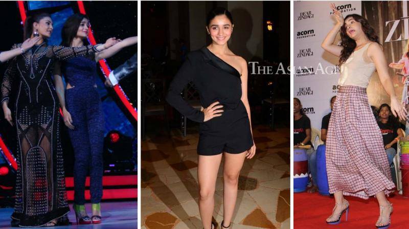 Alia Bhatt was seen promoting her film 'Dear Zindagi' on 'Jhalak Dikhla Jaa' and was also spotted at the launch of a film magazine cover and while interacting with kids at an event. (Photo: Viral Bhayani)