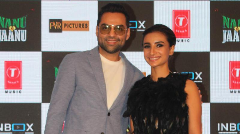 Abhay Deol and Patralekhaa at the trailer launch.