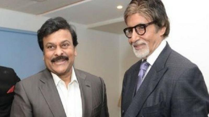 Amitabh Bachchan with Chiranjeevi. (File Photo)